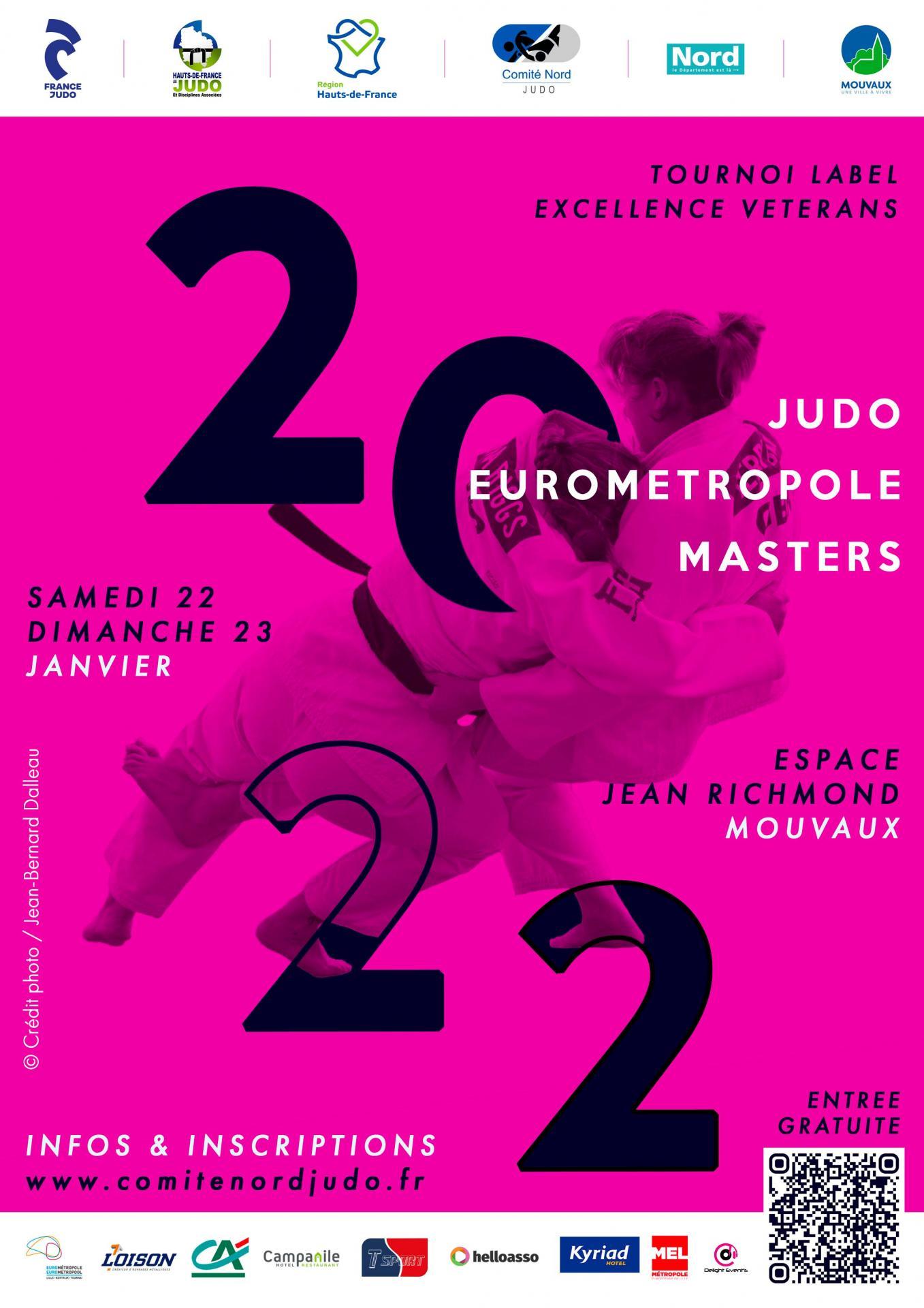 Affiche Eurométropole Masters 2022