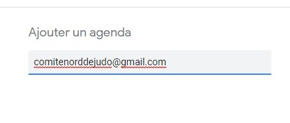 Ajouter un agenda 1