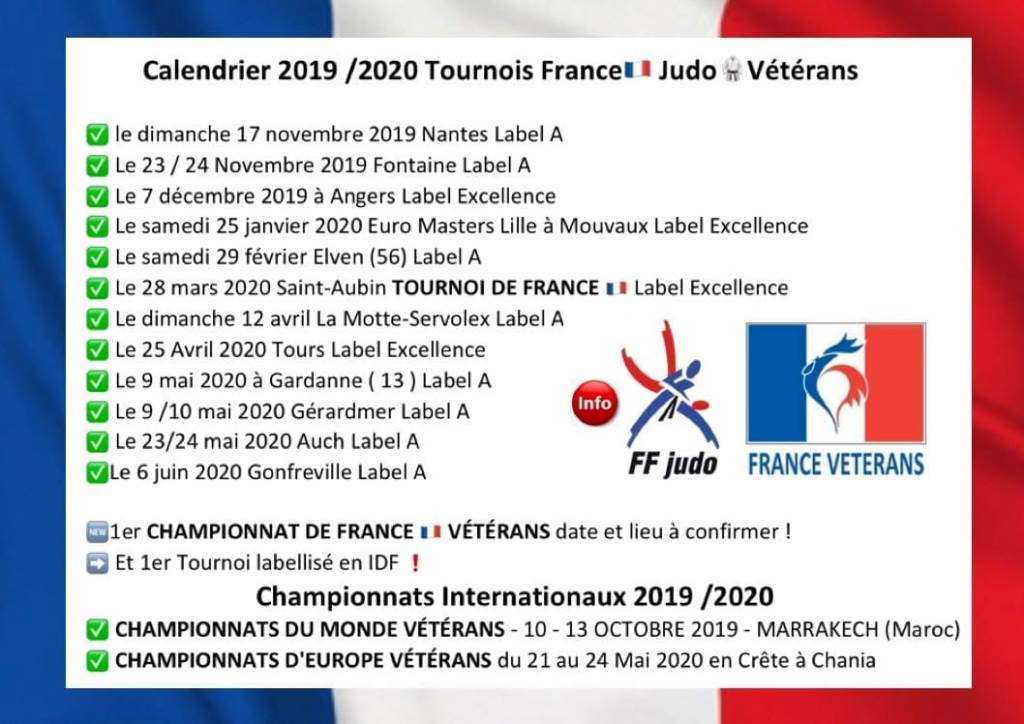 Calendrier tournois masters